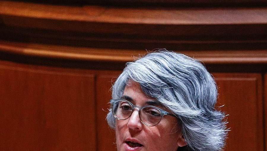 A ministra da Cultura, Graça Fonseca, no Parlamento