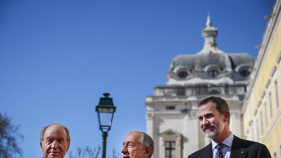 Rei emérito Juan Carlos, Marcelo Rebelo de Sousa e rei Filipe VI