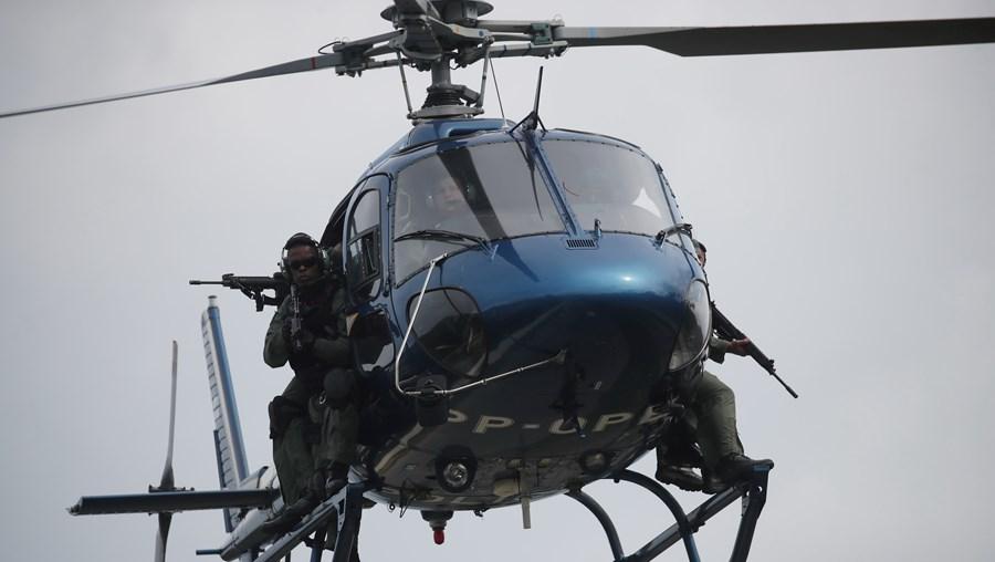 helicóptero, polícia, Brasil