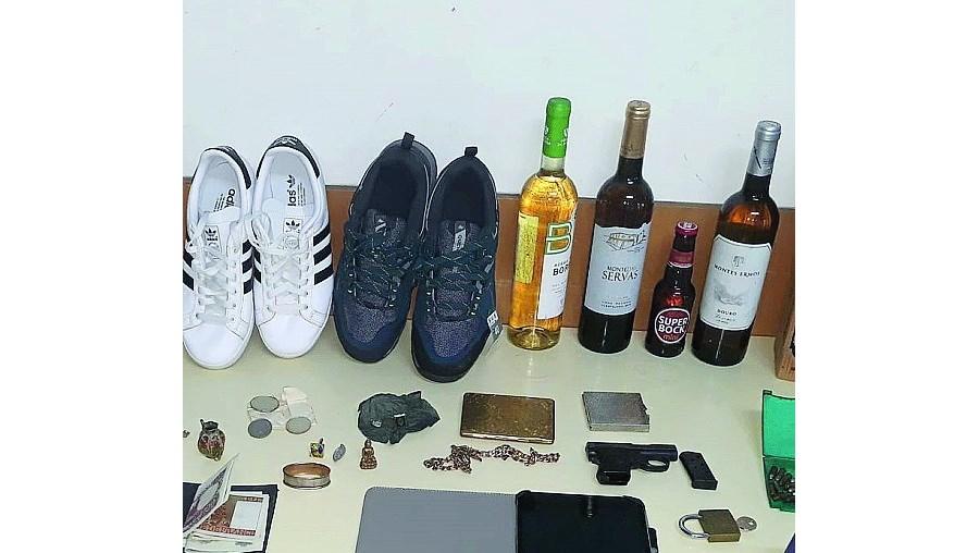 Material apreendido pela GNR após assalto em Vila do Conde