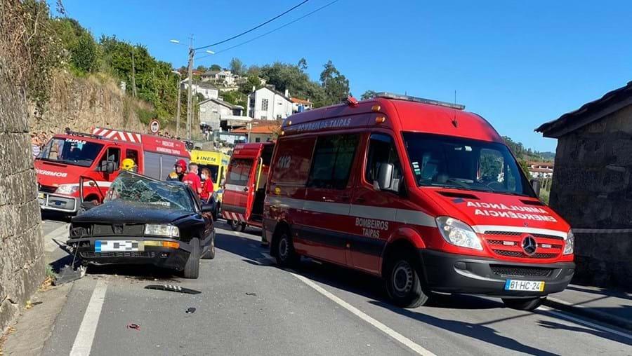 Despiste faz quatro feridos em Guimarães. Criança entre as vítimas