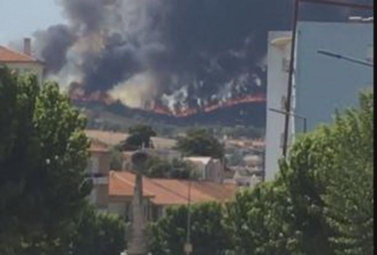 Incêndio às portas de Mirandela corta EN15 e ameaça gasolineira