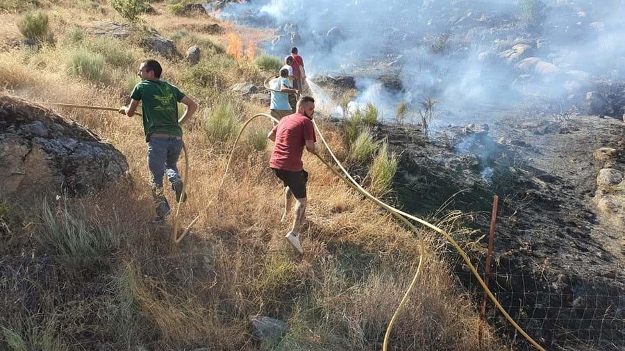 Moradores em Capinha, Fundão, ajudaram a apagar as chamas