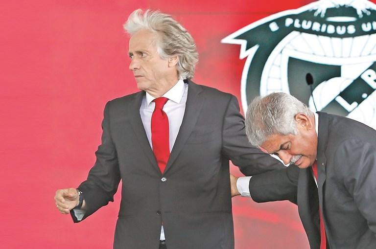 Jorge Jesus e Luís Filipe Vieira