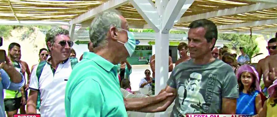 Presidente da República e apresentador estiveram juntos durante a passagem pela ilha de Porto Santo