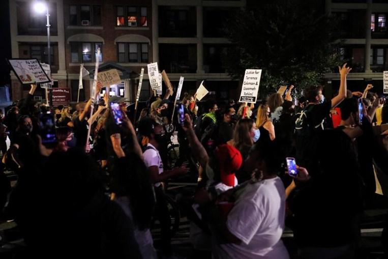Protesto contra o racismo em Kenosha