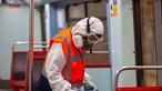 Metro de Lisboa em ação de desinfeção para evitar contágio de coronavírus