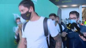 Darwin Nuñez já está em Lisboa para assinar pelo Benfica. Veja as imagens da chegada