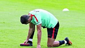 Cristiano Ronaldo falta à primeira parte do treino da Seleção Nacional no Porto