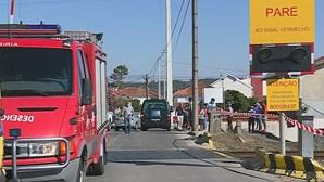 Idoso morre em colisão entre comboio e mota em Leiria
