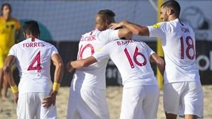 Portugal na Superfinal da Liga Europeia de futebol de praia com nova goleada