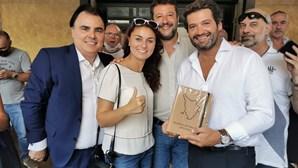 André Ventura ao lado de Salvini, líder da extrema-direita, em Itália. Veja as imagens