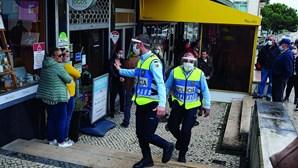 PSP apanha 50 infetados com Covid-19 na rua