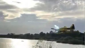 Avião de combate a fogos choca com cabo de eletricidade em Proença-a-Nova