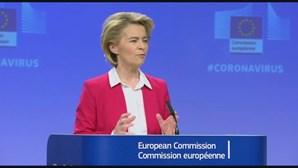 """Von der Leyen quer Europa focada em """"questões mais urgentes"""" do que direitos de vacinas da Covid-19"""