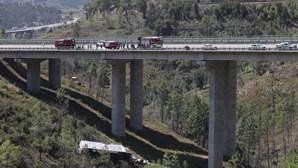 Motorista morre em queda de camião em ravina na A23