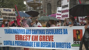 Trabalhadores das cantinas escolares do Porto em greve