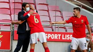 Rúben Dias emocionado confirma o adeus ao Benfica após marcar frente ao Moreirense