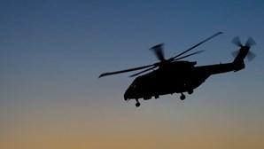 Mulher com pé partido resgatada de trilho por helicóptero da Força Aérea em Ponte de Lima