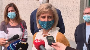 Marta Temido visita lar de Lisboa para assinalar primeiro dia de vacina contra a gripe