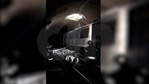 Veja as imagens do local onde ocorreu o desabamento na Linha Azul do Metro de Lisboa