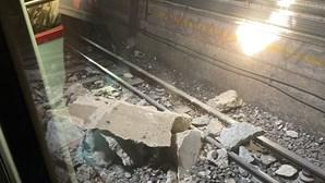 Desabamento na Linha Azul do Metro de Lisboa provoca quatro feridos