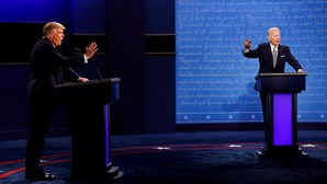 As imagens que marcaram o primeiro debate de Donald Trump e Joe Biden