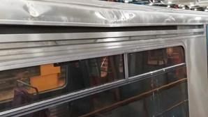 Imagens mostram estragos em carruagem atingida por desabamento de tecto no Metro de Lisboa