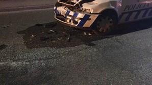 Gang destrói carro da PSP para fugir no Barreiro