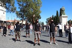 Vários profissionais manifestaram-se junto ao Palácio da Ajuda