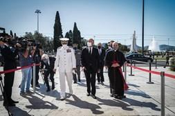 Marcelo com almirante Silva Ribeiro