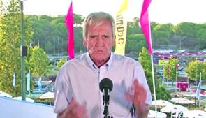 Líder do PCP discursou no recinto, mas não no tradicional Palco 25 de Abril