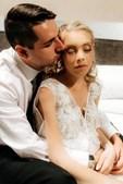Ashleigh Simrajh no dia do casamento