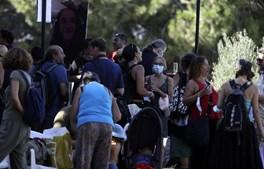 Visitantes do evento não cumprem regras de distanciamento social e proteção individual
