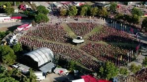Vista aérea da Quinta da Atalaia na 44ª edição da Festa do Avante