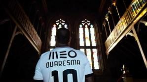 Imagens do vídeo de apresentação de Quaresma no Guimarães
