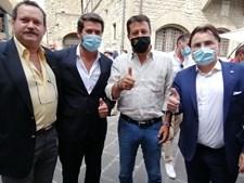 André Ventura e Salvini juntos em Itália