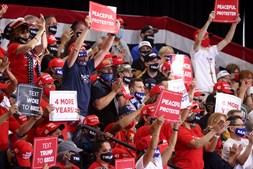 Comício de Trumpo no estado norte-americano do Nevada