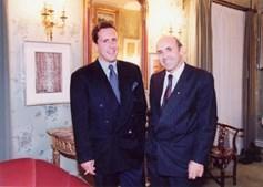Miguel de Sousa Cintra com o pai, José de Sousa Cintra