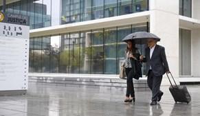 Teixeira da Mota à chegada ao Campus da Justiça