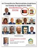 Cartaz da conferência com participantes
