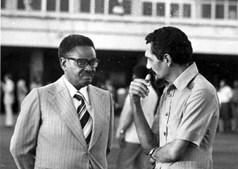 Luicio Lara com Agostinho Neto em Luanda, em 1978