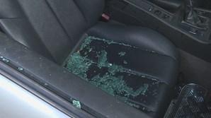 Suspeitos partiram o vidro desta viatura