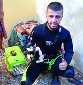Animal depois de ser resgatado