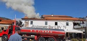 Incêndio destrói cozinha de restaurante em Pinhão