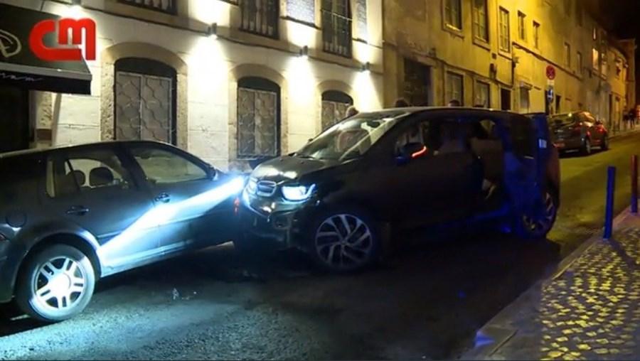 Momento do acidente