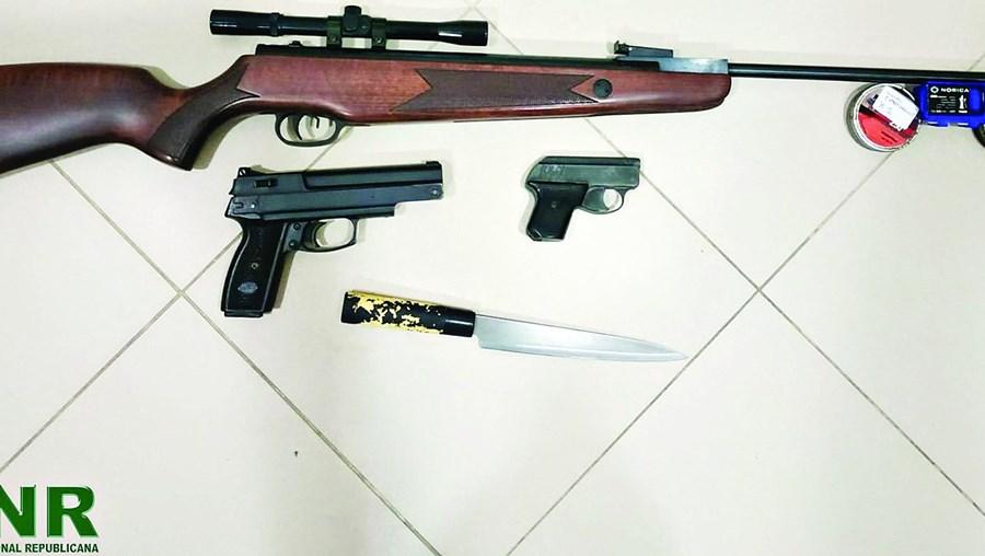 Armas apreendidas em Viana