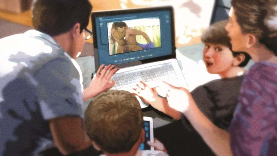 Sexo online de psicóloga visto por alunos do 9º ano em Odemira - Ilustração