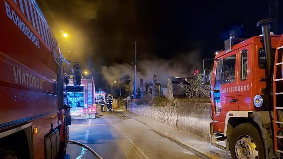 Incêndio em habitação em Nine