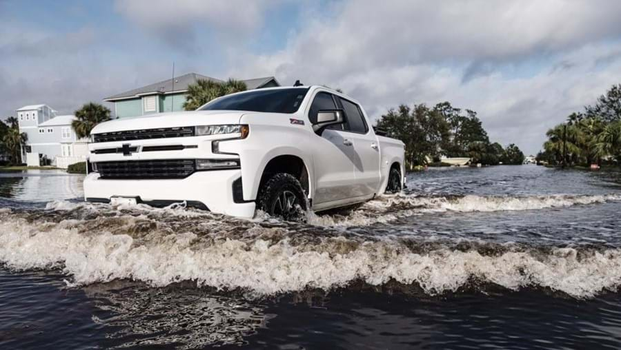 Rua inundada no Alabama